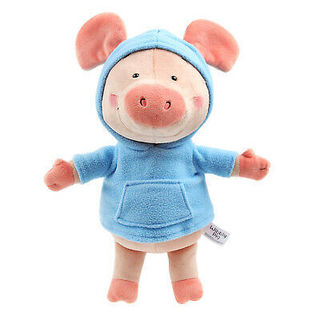 Wibbly Pig with Blue Hoody