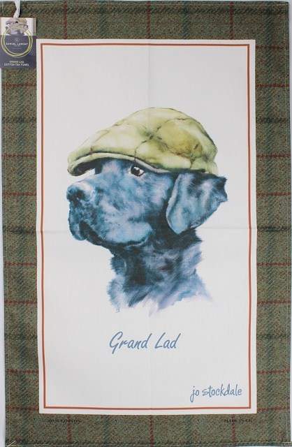 Black Lab Tea Towel