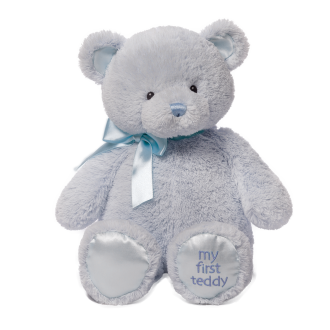 My First Teddy Bear Blue 38cm