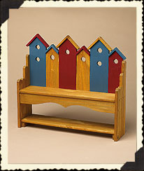 Boyds Wooden Birdhouse Bench